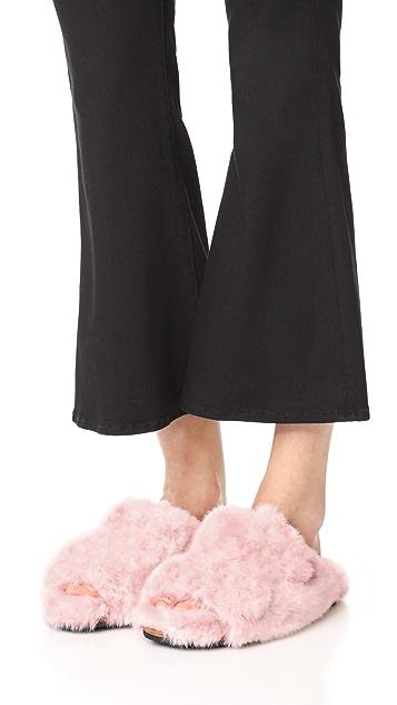 Suecomma Bonnie 人造皮毛平底便鞋