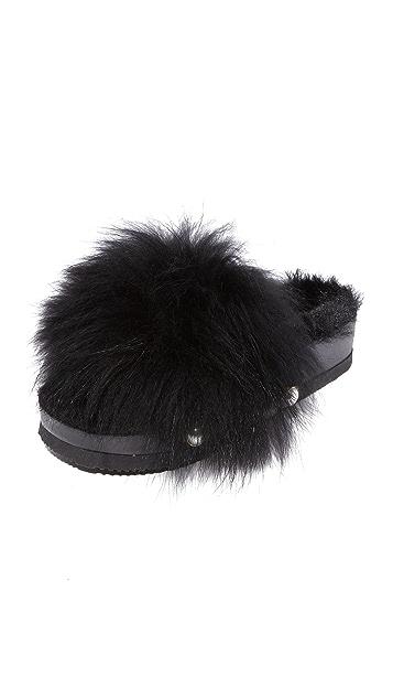 Suecomma Bonnie 人造皮毛装饰厚底便鞋