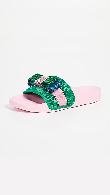 Suecomma Bonnie 撞色缎带凉鞋