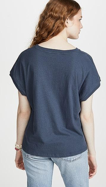 SUNDRY 起绒条纹 T 恤