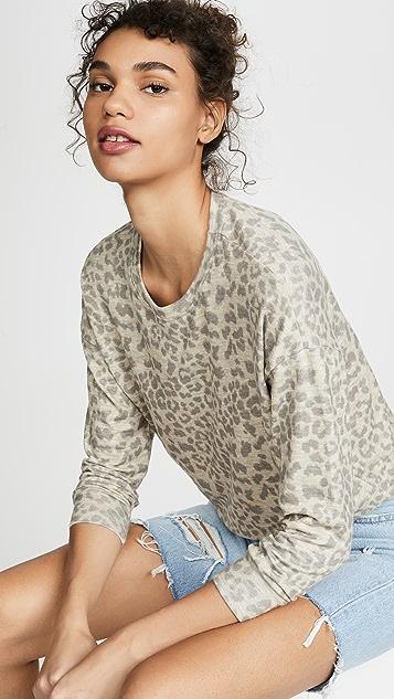 SUNDRY 豹纹印花毛衣