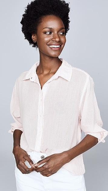 SUNDRY 棉质薄纱系扣上衣
