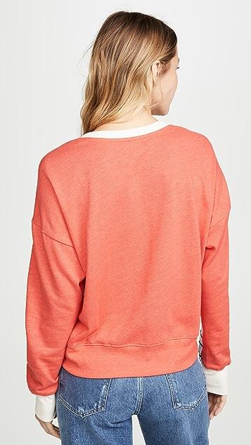 SUNDRY 条纹撞色运动衫