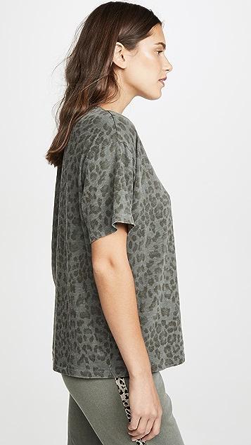 SUNDRY 豹纹直筒 T 恤