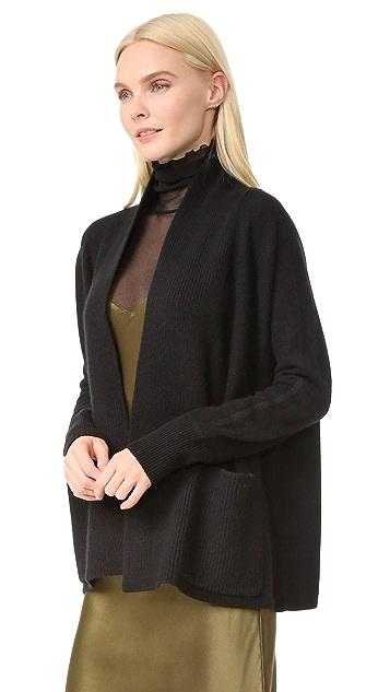 TSE Cashmere 开司米羊绒围巾式领开襟衫