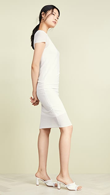 TSE Cashmere 皱折边连衣裙