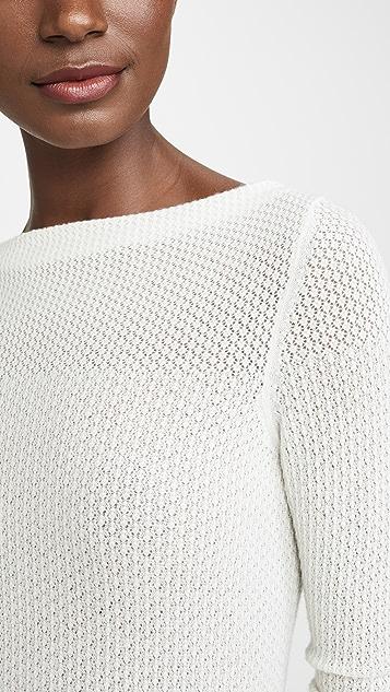 TSE Cashmere 花式网眼织物开司米羊绒毛衣