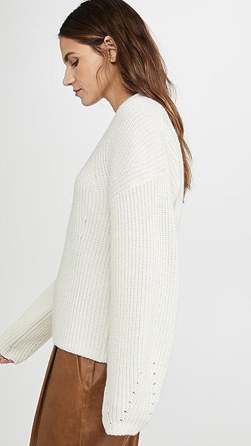 TSE Cashmere 挺括罗纹开司米羊绒毛衣