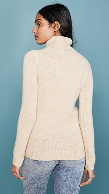 TSE Cashmere 开司米羊绒翻折高领毛衣