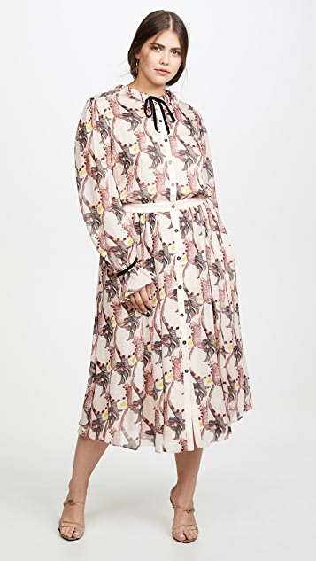 Temperley London Maggie 衣领连衣裙