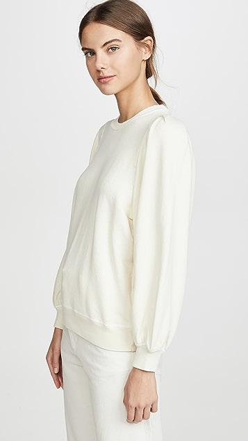 THE GREAT.  褶皱衣袖运动衫