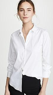 Theory Luxe Tenia 系扣女式衬衫