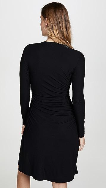 Theory 褶皱腰部长袖连衣裙