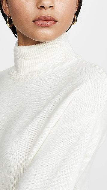 Theory 锁缝开司米羊绒高领毛衣