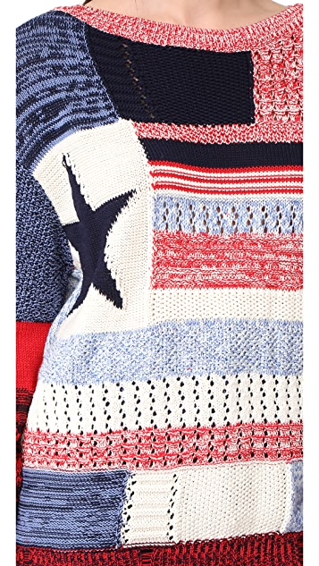 Hilfiger Collection American Flag 拼接针织衫
