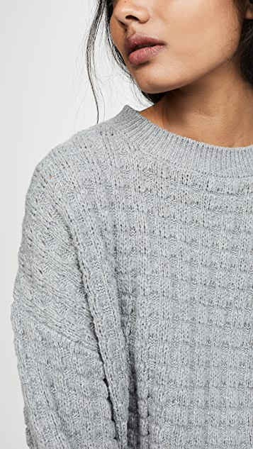 The Range 夸张蜂窝纹衣袖针织