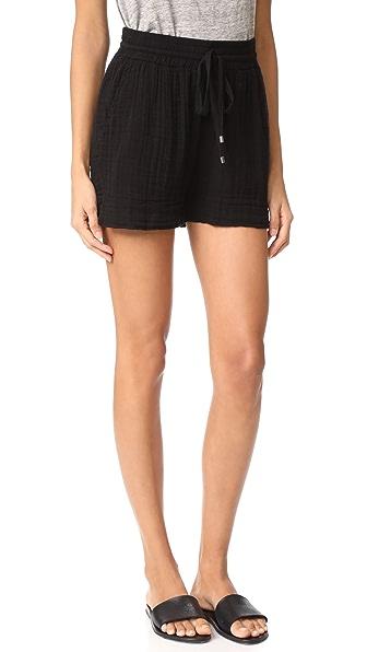 Three Dots 双层薄纱短裤