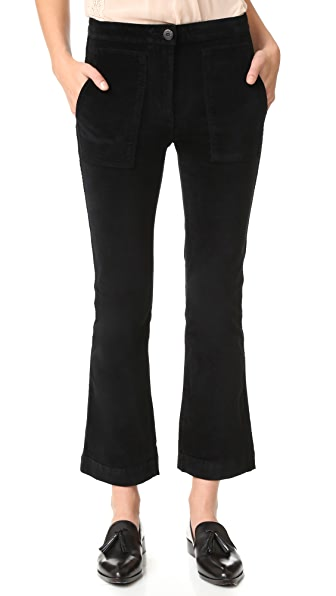 3x1 W3 贴片九分喇叭裤