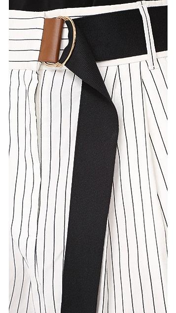 Tibi Cecil 条纹九分裤子