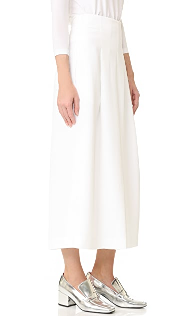 Tibi 斜纹织物褶皱裙裤