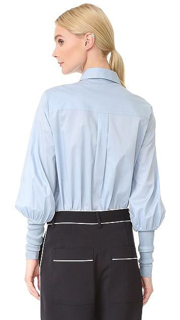 Tibi Mabel 罗纹袖口上衣