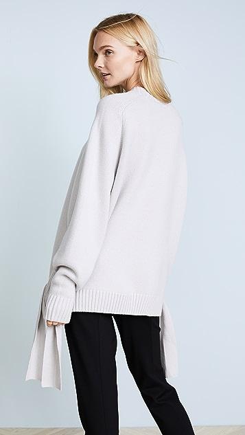 Tibi 开司米羊绒绑带毛衣