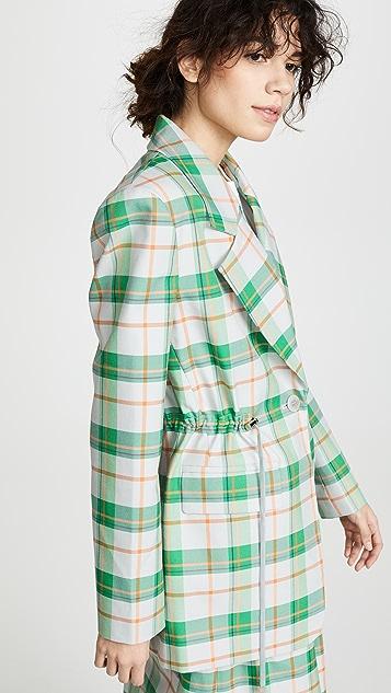 Tibi 超大腰部系带西装外套
