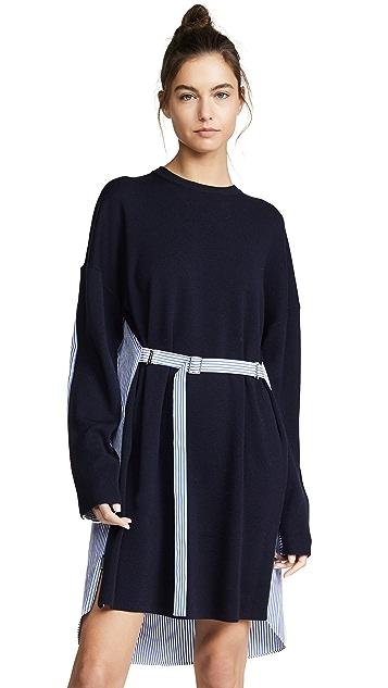 Tibi 拼接 T 恤式短连衣裙