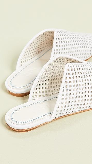 Tibi Casey 平底穆勒鞋