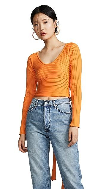 Tibi Decollette 裹身套头衫