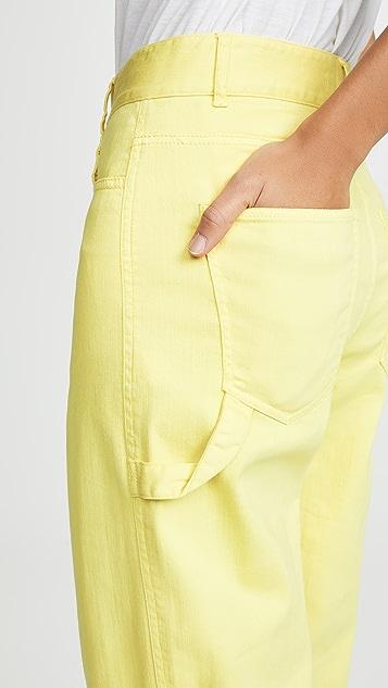 Tibi 五口袋工装牛仔裤