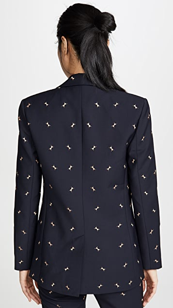 Tibi 刺绣西装外套