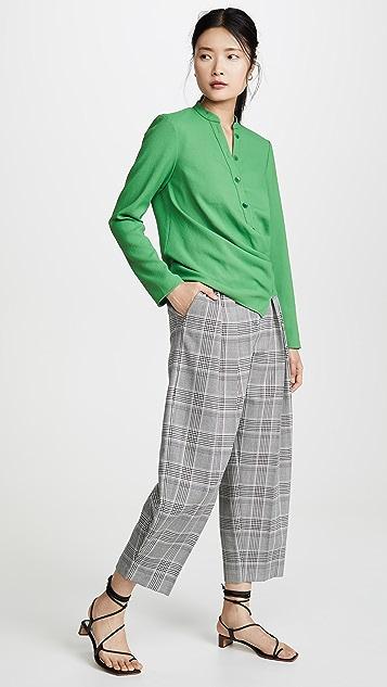 Tibi 垂褶女式衬衫