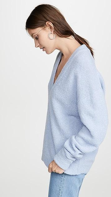 Tibi V 领羊驼毛套衫