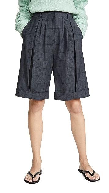 Tibi 褶皱短裤