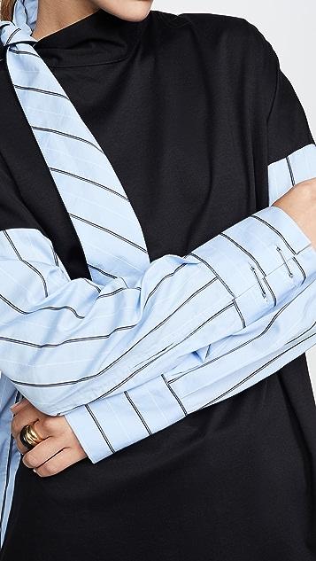Tibi 领口绑带衬衣面料上衣