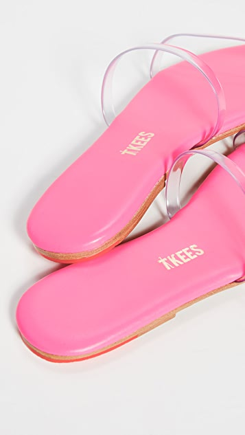 TKEES Gemma 双带乙烯基凉鞋