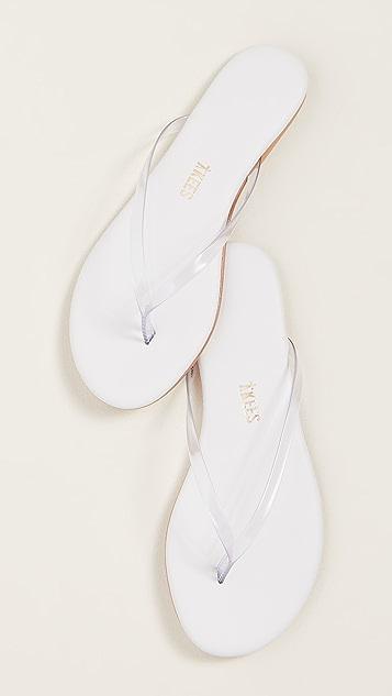TKEES Lily 透明色夹趾凉鞋