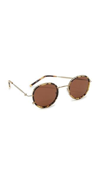 Tomas Maier 眼睛镜框圆形太阳镜