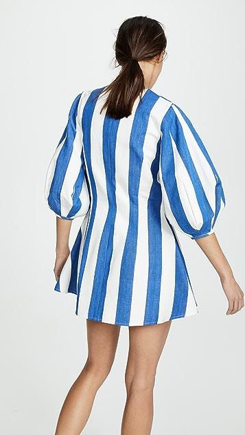 Tata Naka 灯笼袖系扣迷你连衣裙
