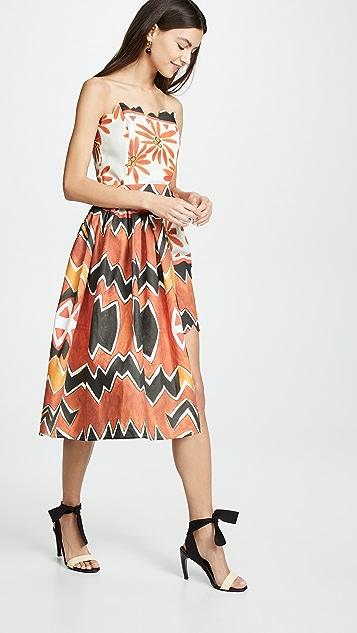 Tata Naka 环绕式无肩带迷你连衣裙