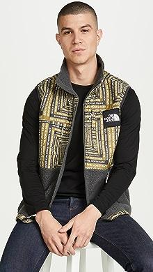 노스페이스 후리스 조끼 The North Face M DenaliI Fleece Vest,Asphalt Grey LCD Capsule Print