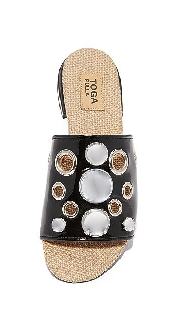 Toga Pulla 铆钉装饰凉拖鞋