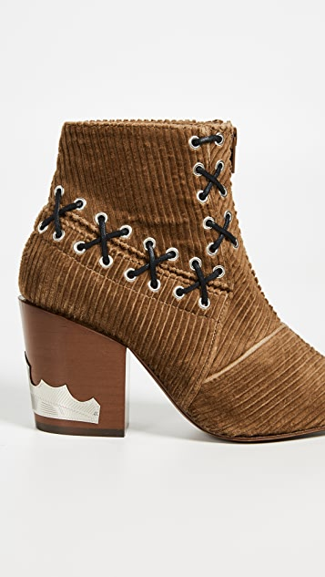 Toga Pulla 灯芯绒缝线短靴