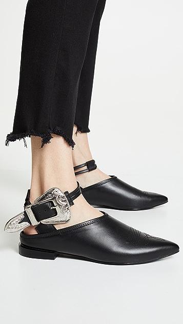 Toga Pulla 搭扣踝带穆勒鞋