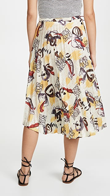 Toga Pulla 混合印花半身裙