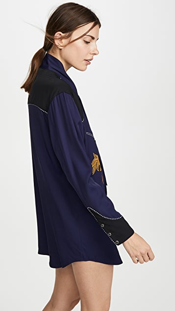 Toga Pulla 人造丝刺绣连衣裙