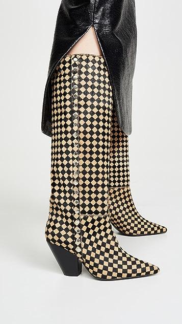Toga Pulla 格纹高筒靴