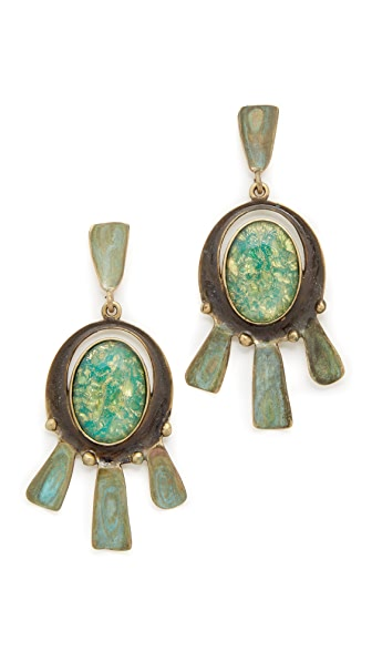 Tory burch oxidized metal statement earrings shopbop for Tory burch jewelry amazon