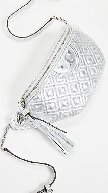 Tory Burch Fleming 金属色腰包